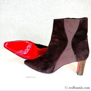 Christian Louboutin brown suede boots